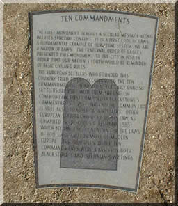 Ten Commandments Commemoration