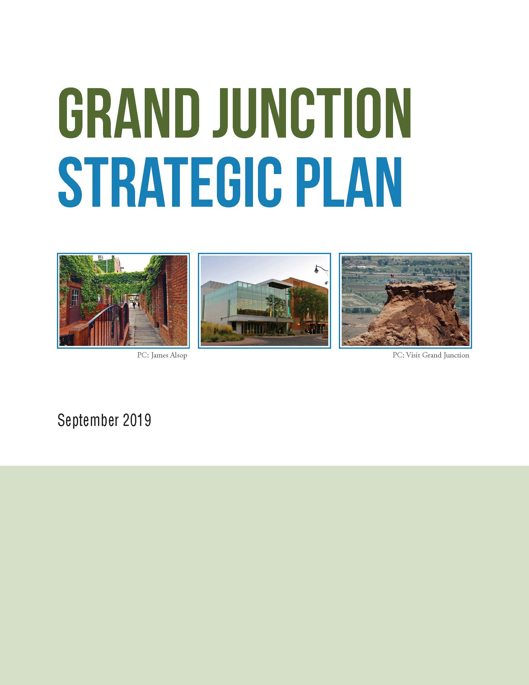 2019 Strategic Plan Cover